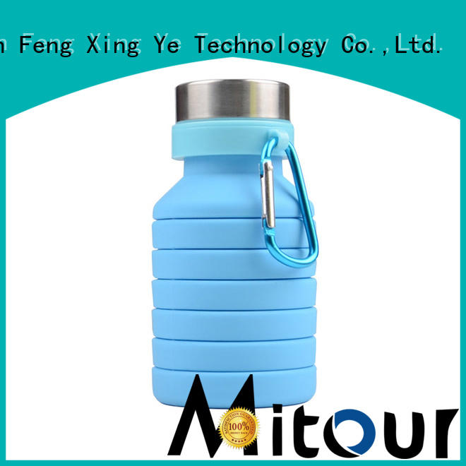 Mitour Silicone Products collapsible silicone bottle sleeve bulk production for children