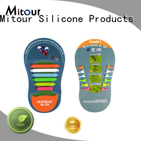 hot-sale silicone shoelace free sample for child Mitour Silicone Products