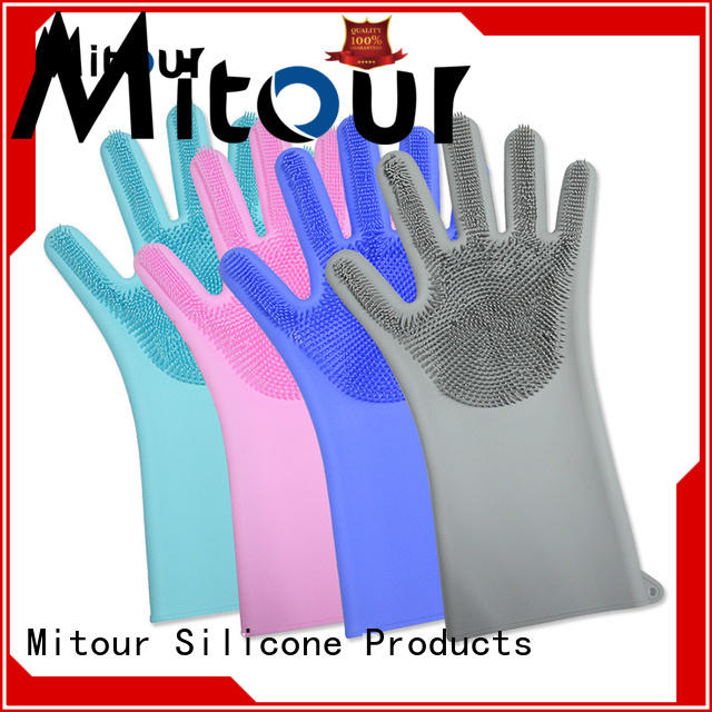 Mitour Silicone Products durable scrubbing gloves customization for housewife