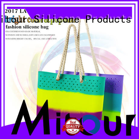 collapsible silicone beach tote handbag for travel