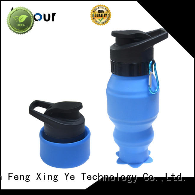 collapsible silicone water bottle for water storage Mitour Silicone Products