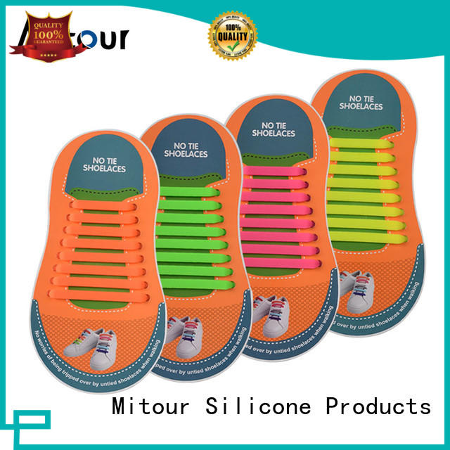 no tie silicone shoelace lazy for boots Mitour Silicone Products