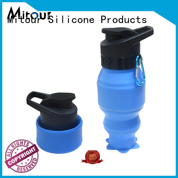 silicone folding water bottle sports for water storage Mitour Silicone Products