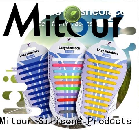no tie shoelace silicone free sample for boots Mitour Silicone Products
