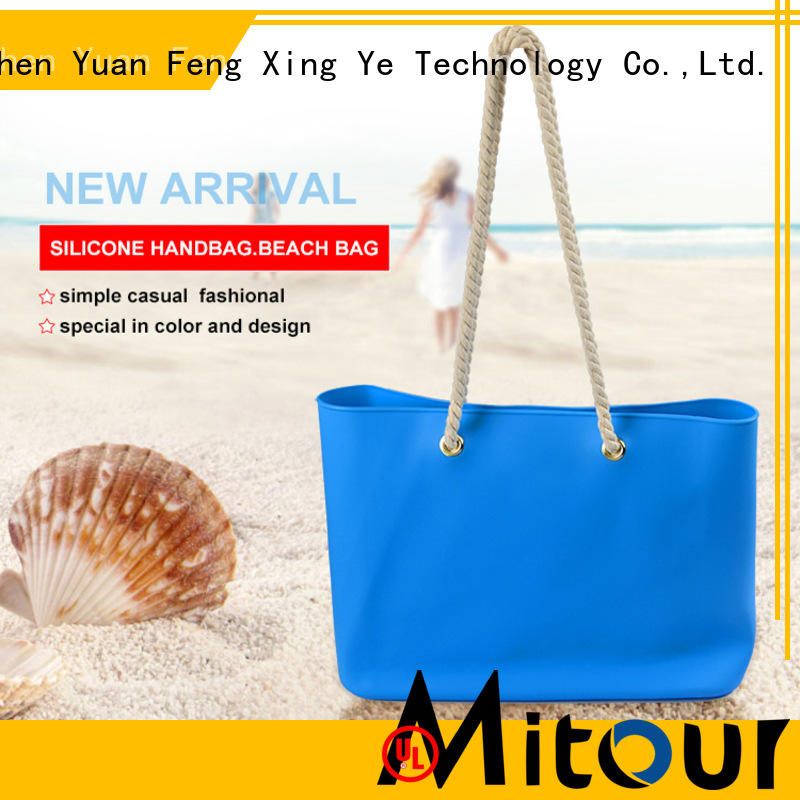 collapsible silicone tote bag beach handbag for school