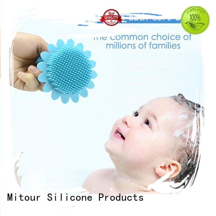 cheap factory price silicone brush head bulk production for bath