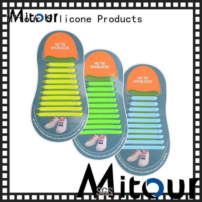 Mitour Silicone Products no tie shoelace silicone shoelaces for shoes
