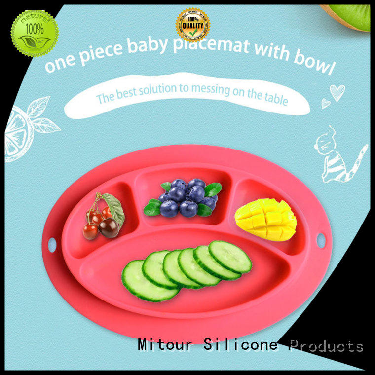 silicone placemat baby toddlers kids foldable Mitour Silicone Products Brand silicone placemat for toddlers