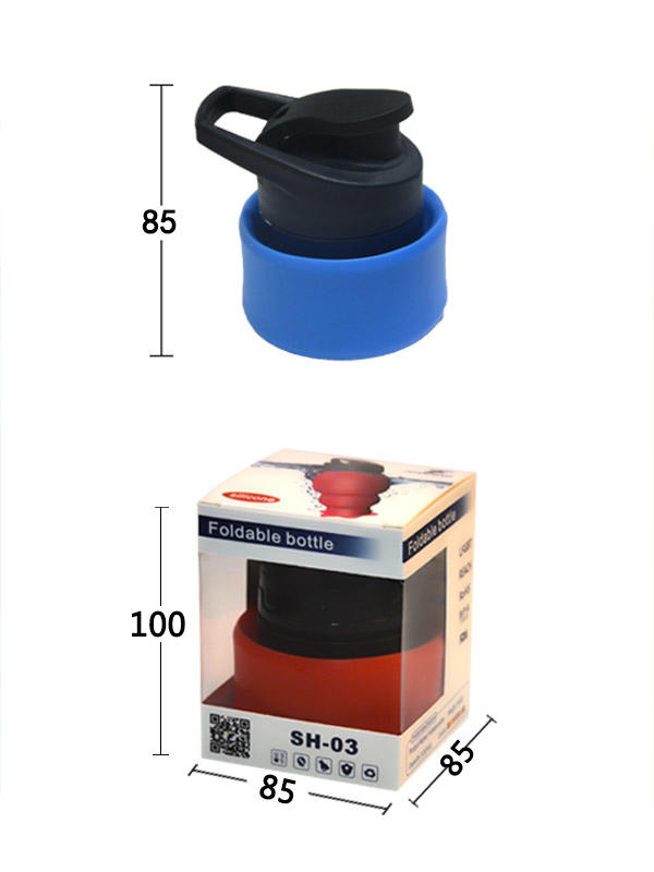 portable silicone bottle cup for wholesale for water storage-3