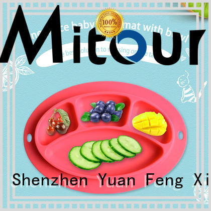 Mitour Silicone Products foldable silicone table mat for children