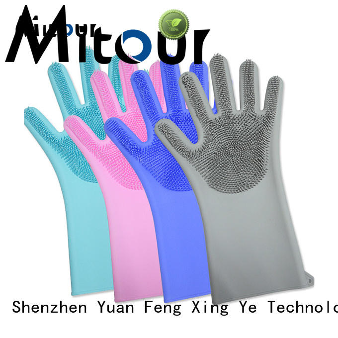Mitour Silicone Products silicone wash dishes gloves OEM for hands protection