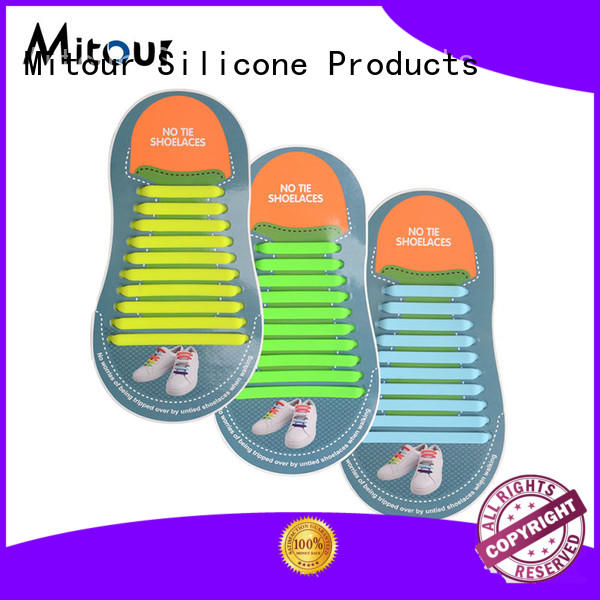 Mitour Silicone Products cheap silicone shoelaces lazy for child