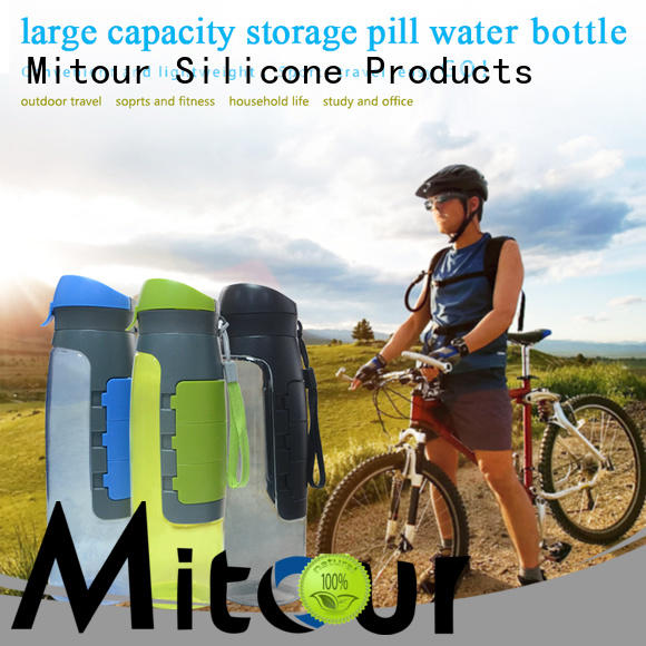 silicone foldable water bottle outdoor for water storage Mitour Silicone Products