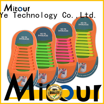 Mitour Silicone Products cheap silicone ties shoelaces for boots