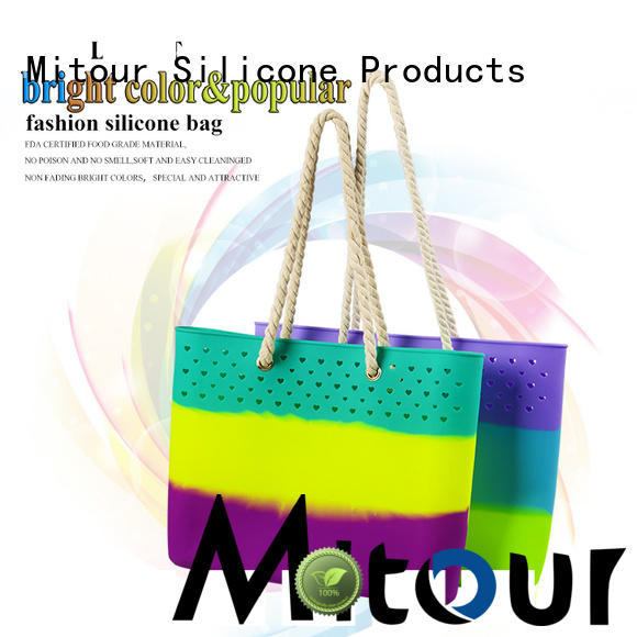 Mitour Silicone Products OEM silicone tote bag bag for boys