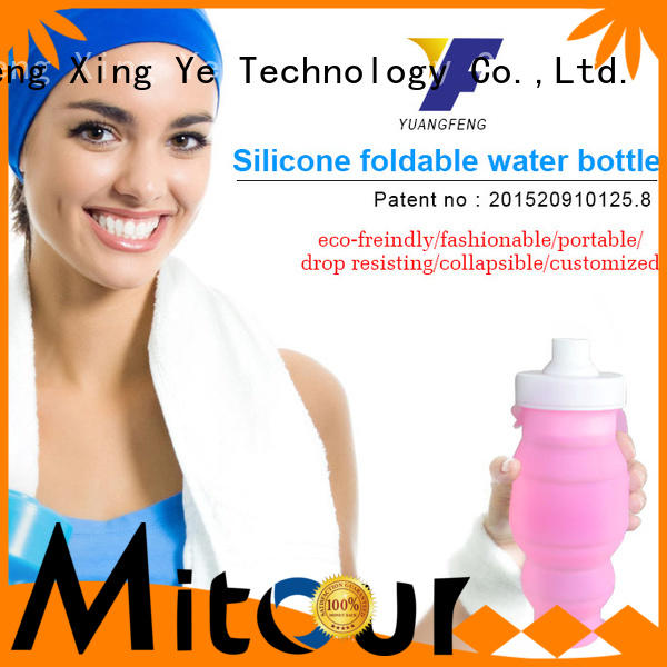 Mitour Silicone Products purse silicone roll bottle for wholesale for water storage