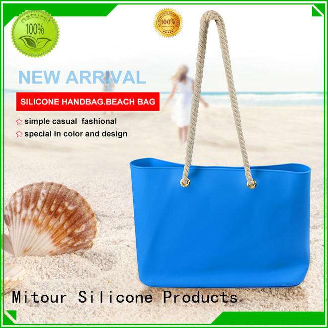 Mitour Silicone Products collapsible silicone tote bag manufacturer for travel