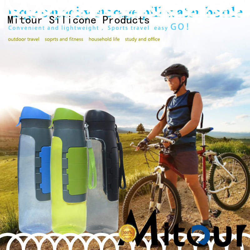 foldable silicone collapsible bottle purse for wholesale for water storage
