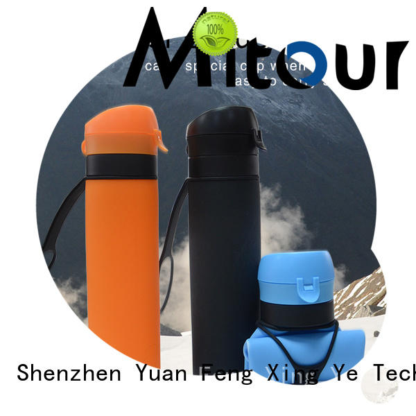 purse silicone folding water bottle for water storage Mitour Silicone Products