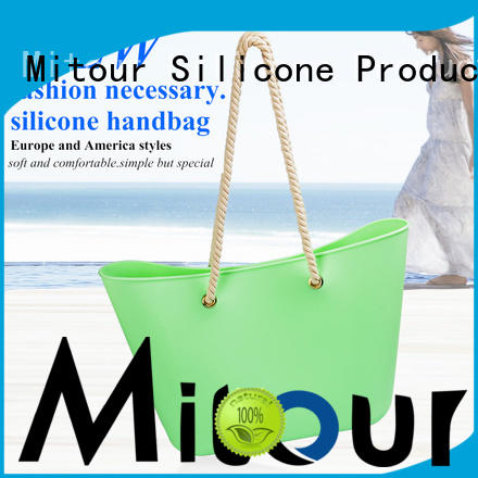 Mitour Silicone Products ODM reusable silicone bags handbag for trip