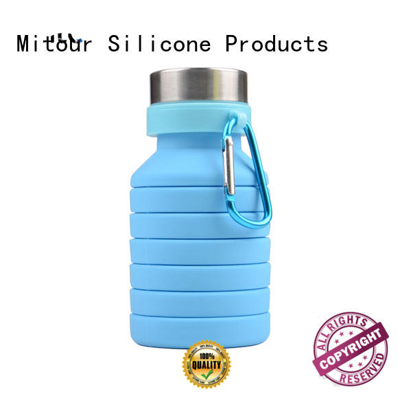 universal collapsible silicone water bottle for water storage