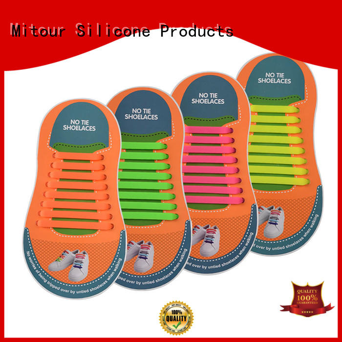 Mitour Silicone Products high-quality silicone shoelaces shoe laces lazy for child