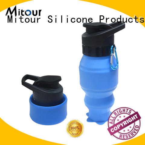 collapsible silicone squeeze water bottle for wholesale for children Mitour Silicone Products
