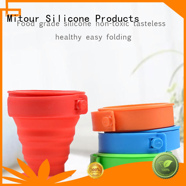 Mitour Silicone Products collapsible water bottle silicone bulk production for children