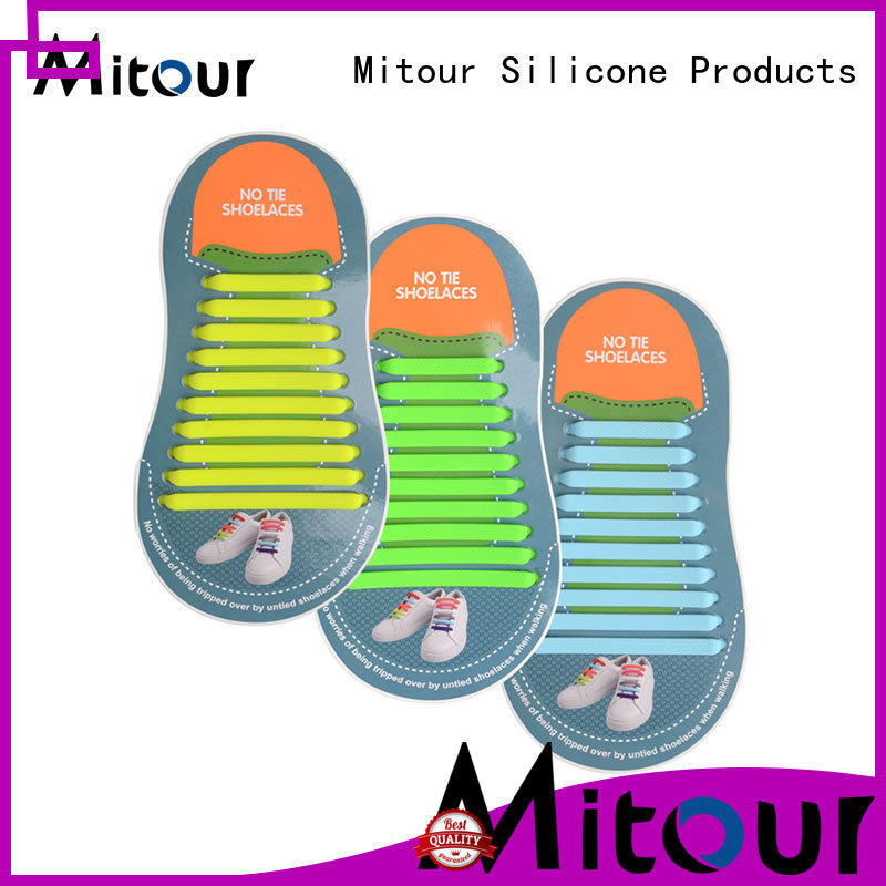 no tie elastic silicone shoelace shoelaces for child Mitour Silicone Products