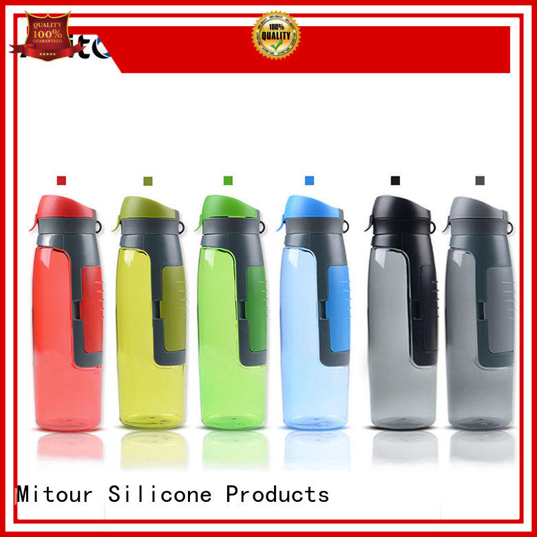 squeeze silicone foldable water bottle bulk production for water storage Mitour Silicone Products