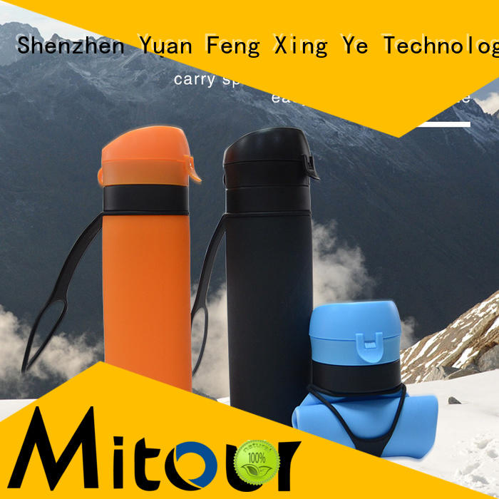 Mitour Silicone Products sports silicone sleeve bottle bulk production for water storage