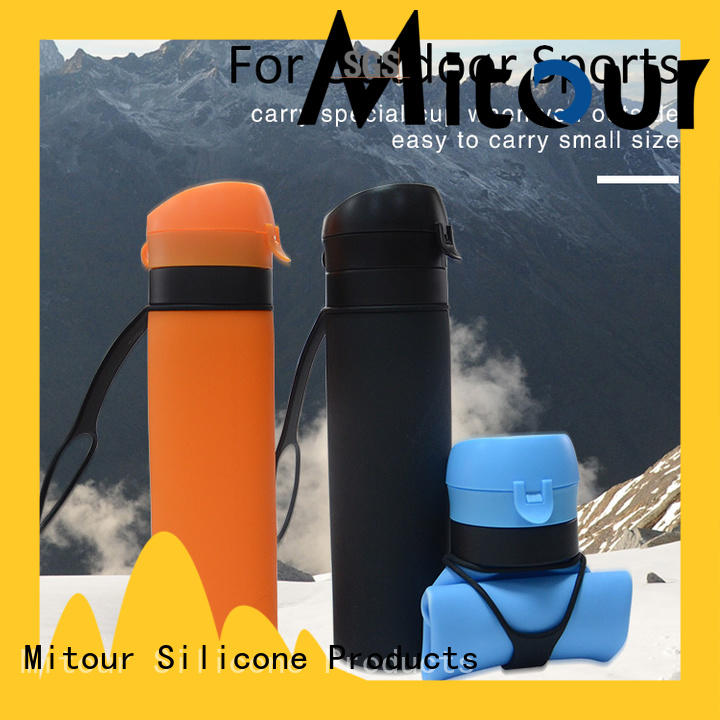 Mitour Silicone Products universal silicone folding water bottle for water storage