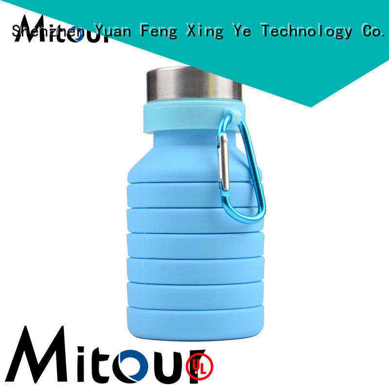 foldable foldable silicone water bottle supplier for children Mitour Silicone Products