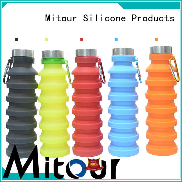 foldable silicone roll bottle for water storage