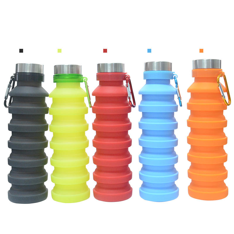 Collapsible Silicone Sport Water Bottle