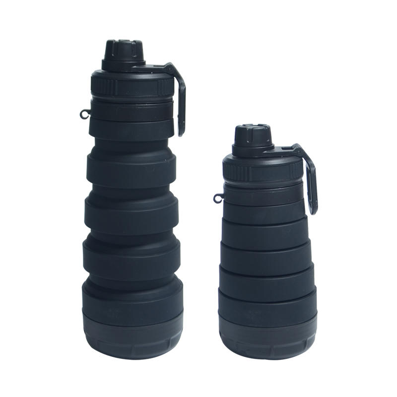750ML Collapsible Silicone Water Bottle for Outdoor Sports