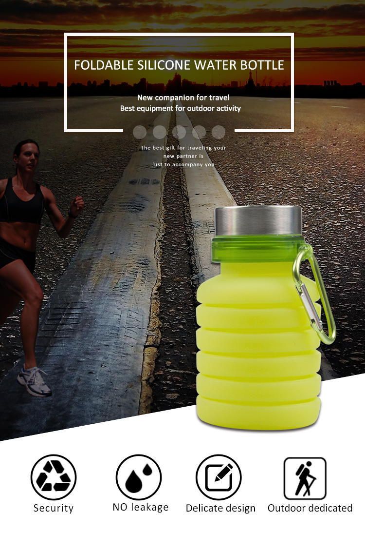 foldable silicone travel bottles cup for children-1