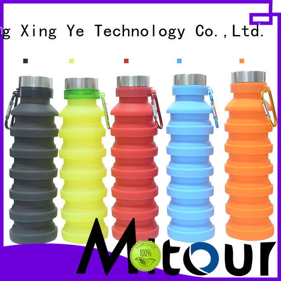 Mitour Silicone Products universal silicone foldable bottle for water storage