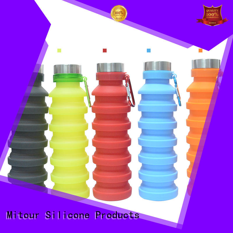 silicone sleeve bottle for water storage Mitour Silicone Products