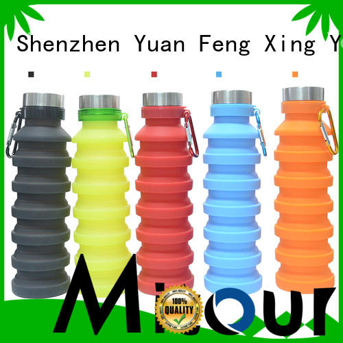 Mitour Silicone Products camouflage glass water bottle price supplier for children