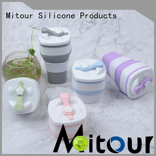 Mitour Silicone Products collapsible frozen water bottle supplier for water storage