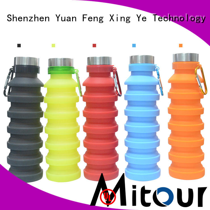Mitour Silicone Products silicone nomader collapsible water bottle for wholesale for children