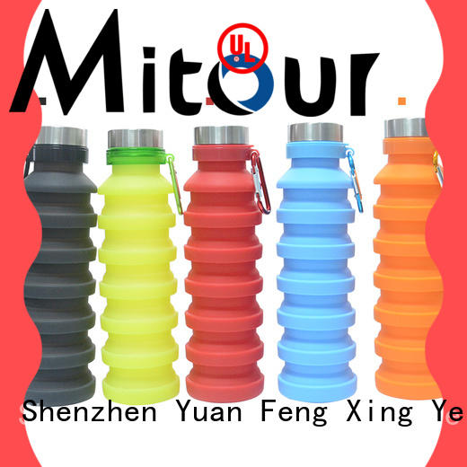 sports silicone foldable bottle bulk production for children Mitour Silicone Products